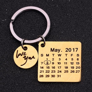The Personalized Calendar Keychain