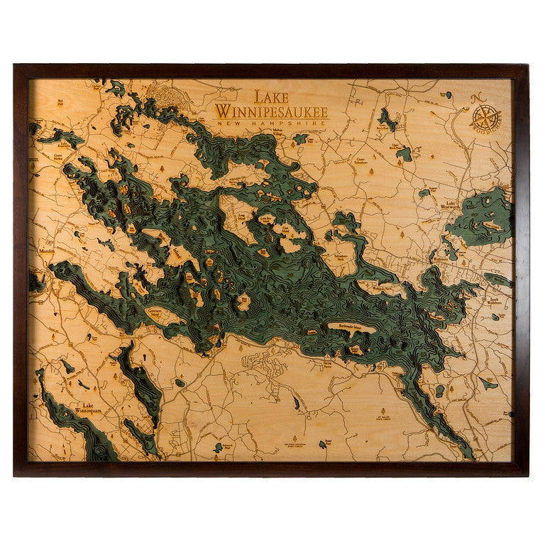 LaserCut Lakes Lake Winnipesaukee