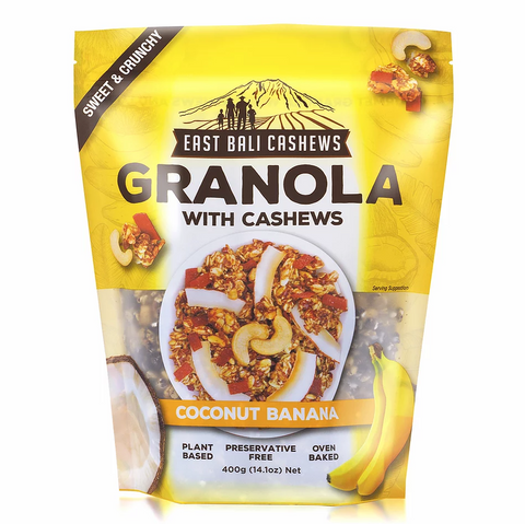 East Bali Cashews - Coconut Banana Granola 400g