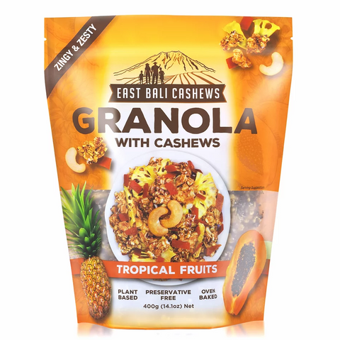 East Bali Cashews - Tropical Fruits Granola 400g