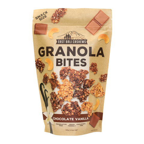East Bali Cashews - Chocolate Vanilla Granola Bites 125g