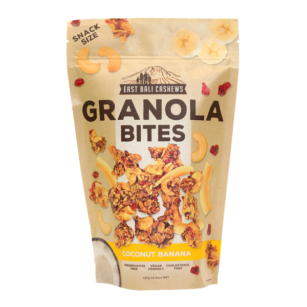 East Bali Cashews - Coconut Banana Granola Bites 125g