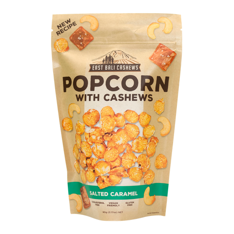 East Bali Cashews - Salted Caramel Popcorn with Cashews 90g
