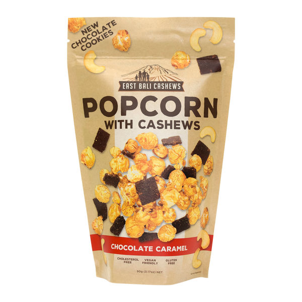 East Bali Cashews - Cacao Caramel Popcorn with Cashews 90g
