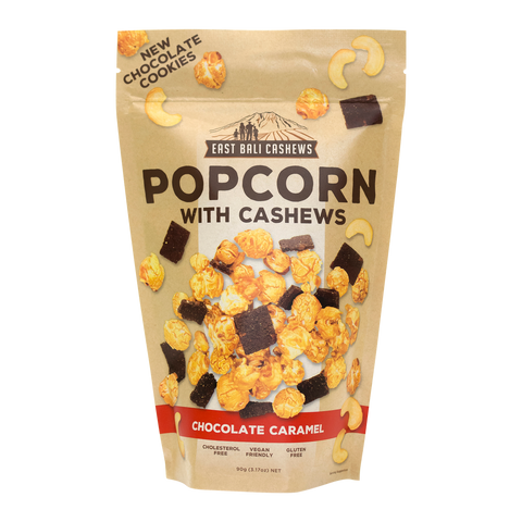 East Bali Cashews - Chocolate Caramel Popcorn with Cashews 90g