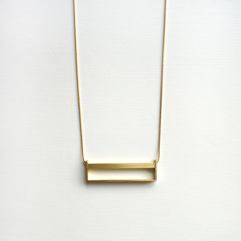 Horizontal Brass Necklace