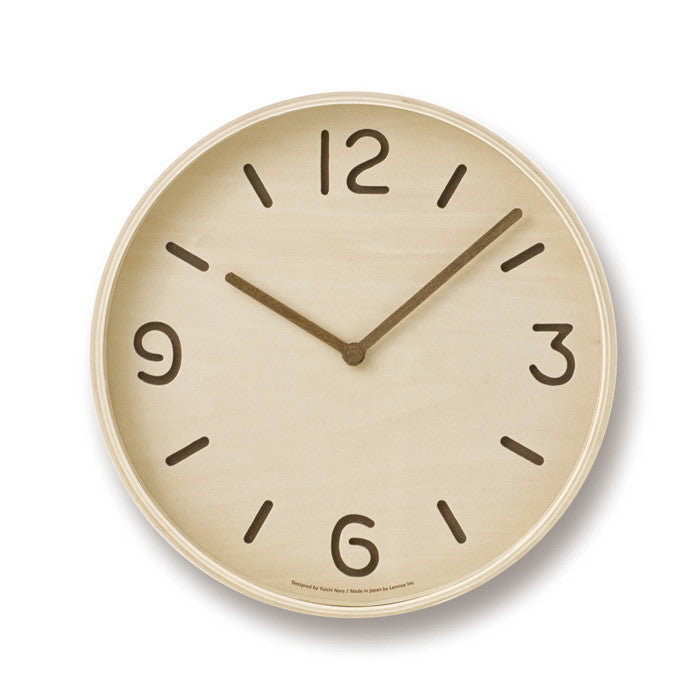 Thomson Clock in birch by Yuichi Nara, Lemnos 1