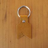 Leather Keyring in camel nubuck by Me & Arrow 2