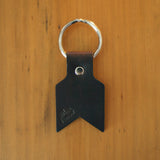 Leather Keyring in dark brown by Me & Arrow 1