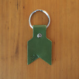 Leather Keyring in green by Me & Arrow 2