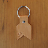 Leather Keyring in natural by Me & Arrow 1