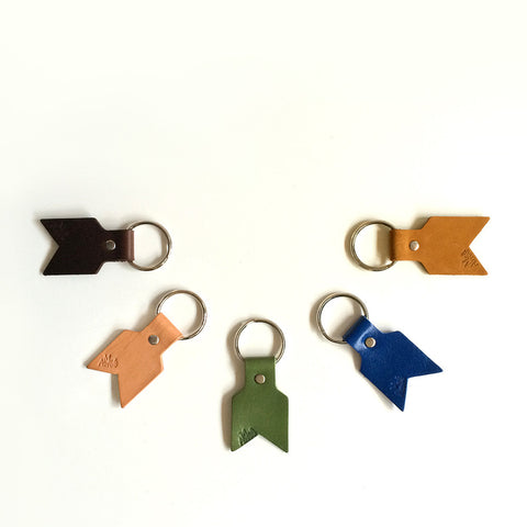 Leather Arrow Keyring
