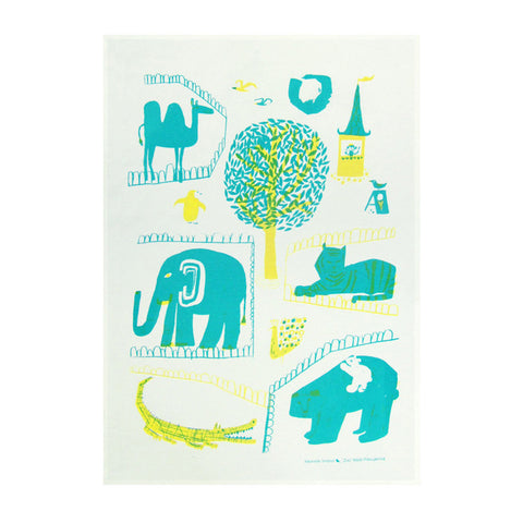 Tea Towel - Zoo