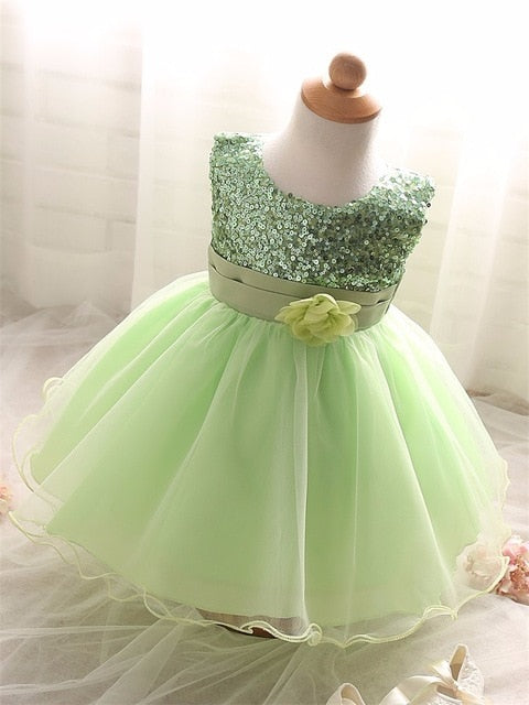 Infant Birthday Party Little Dress Baby Girl Christening Gowns Toddler bb0a07bd26d4