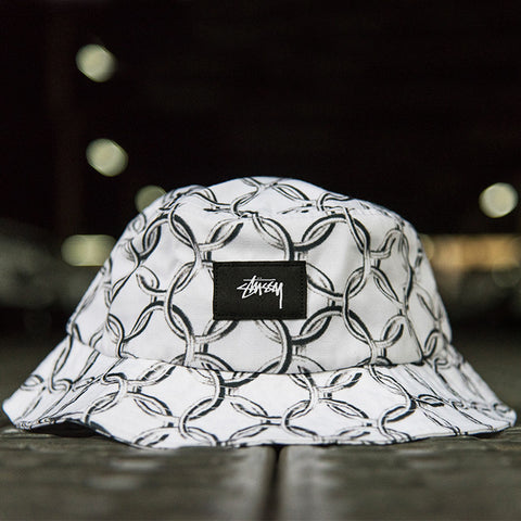 Chain Bucket Hat (White)