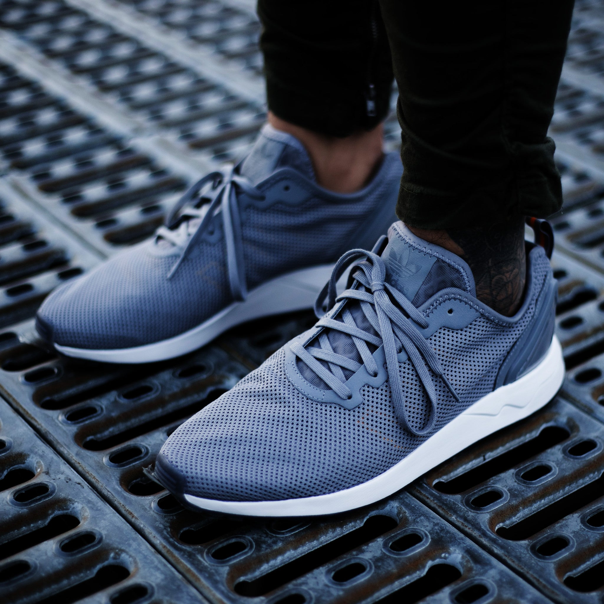Adidas Zx Flux Grey White