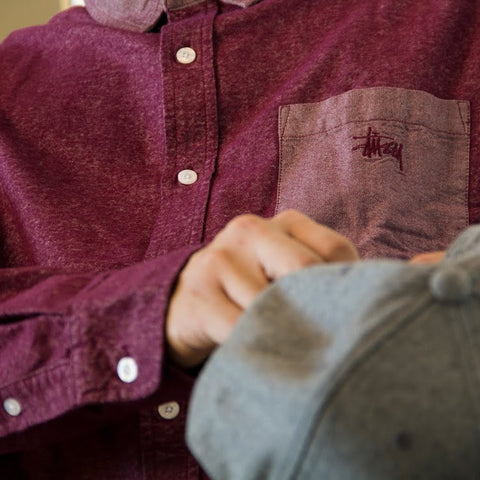 Brushed Chambray Mix Up (Purple)