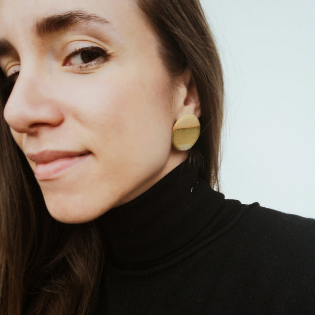 Handcrafted ceramic earrings #2