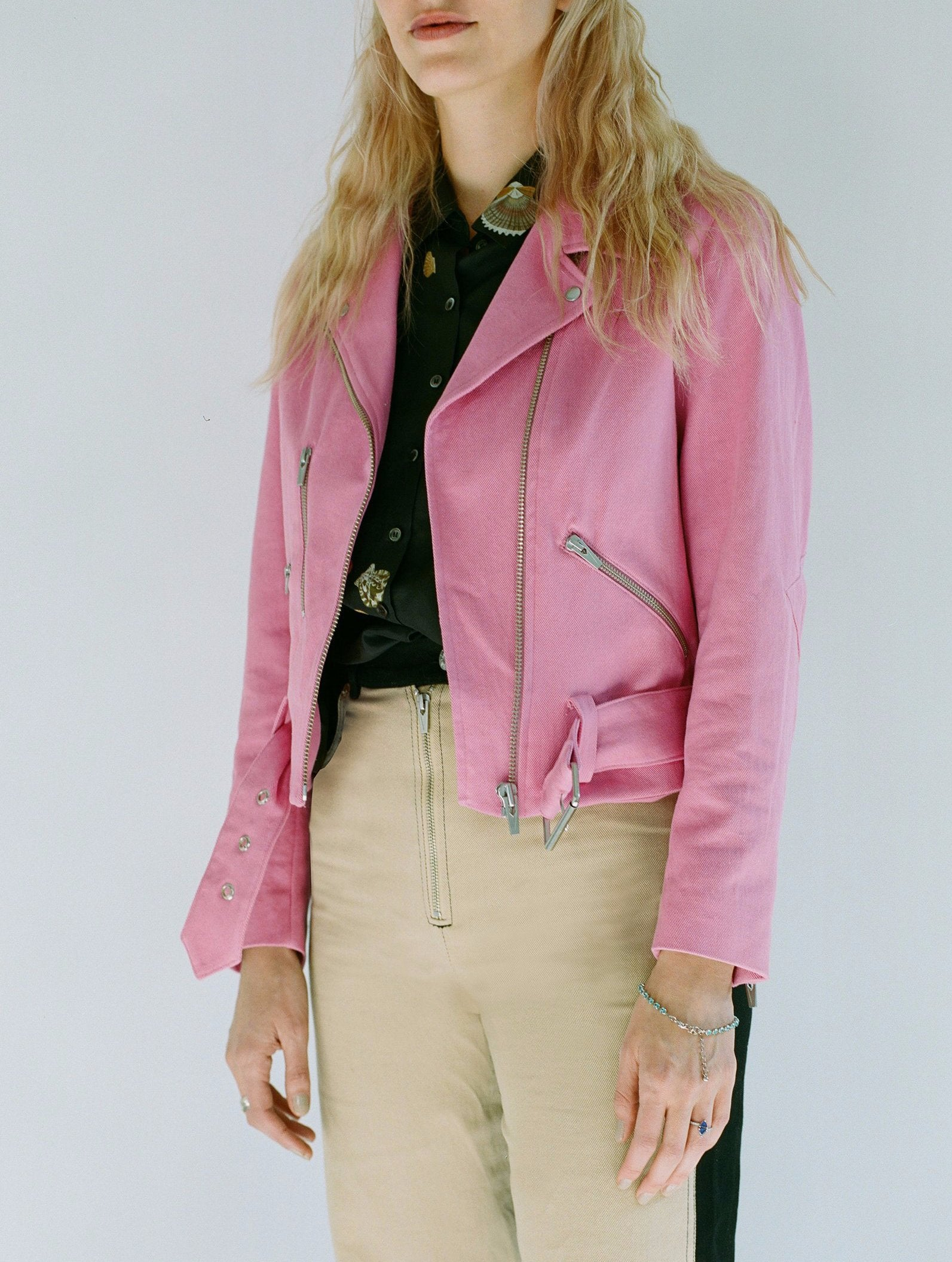 Capitol Denim Jacket Pink Candy