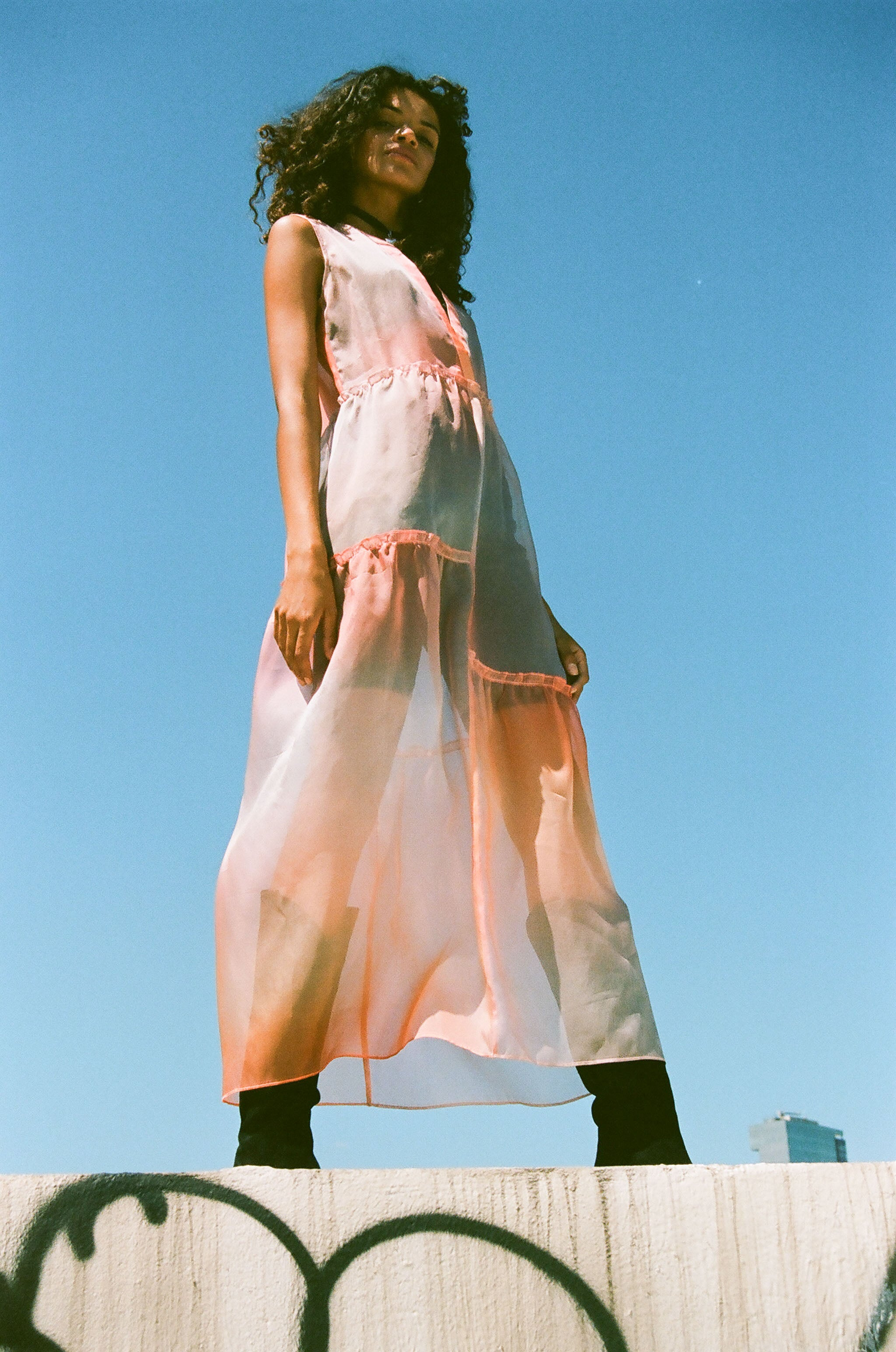 Fuego Organza Dress Sunset Ombre