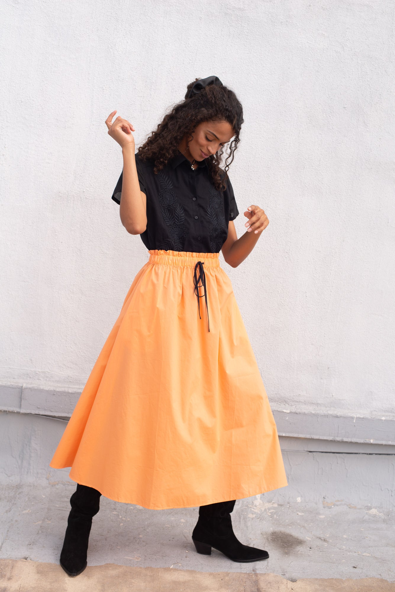 Horchata Cotton Skirt Melon