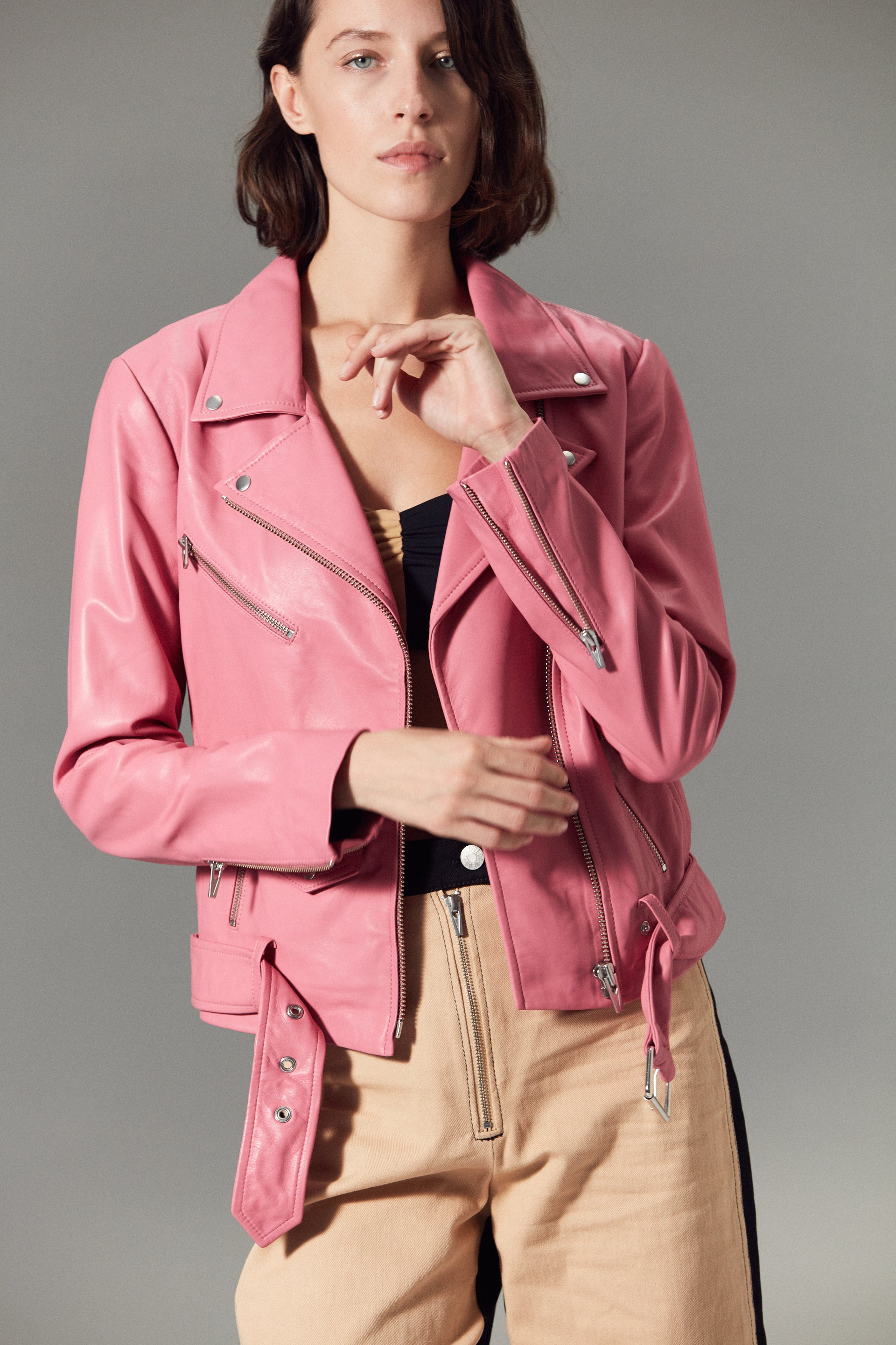 Jayne Smooth Jacket Rosa