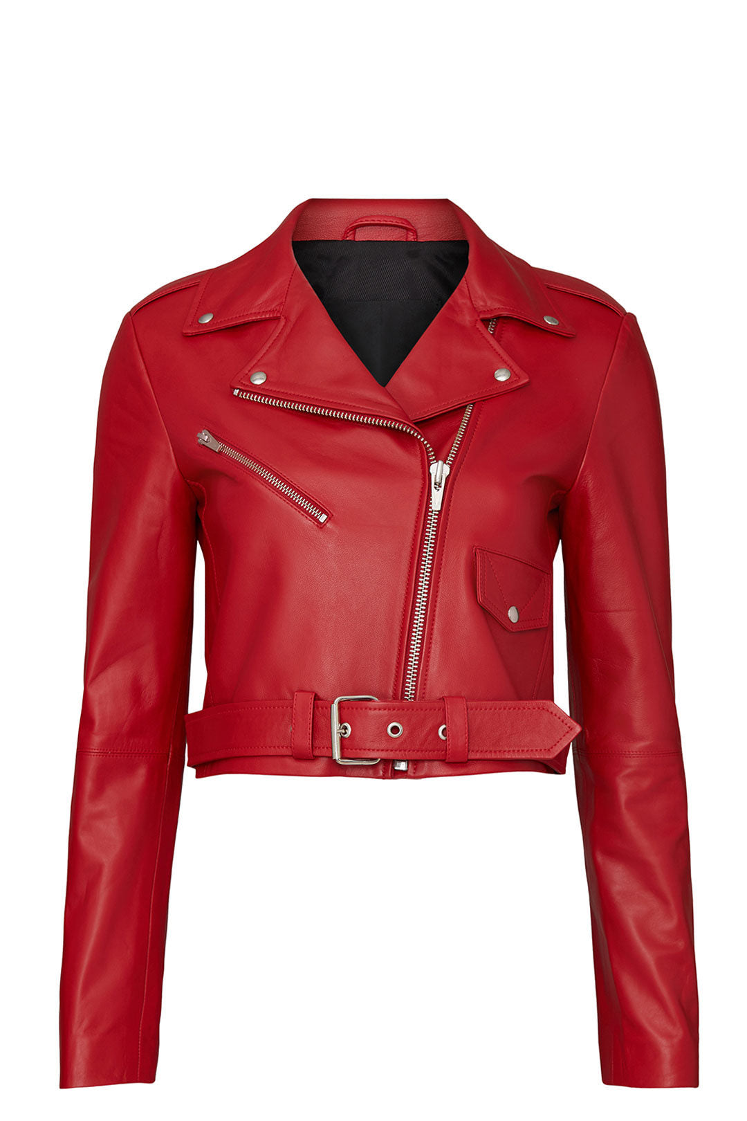 Baby Jane Smooth Leather Jacket Tomato