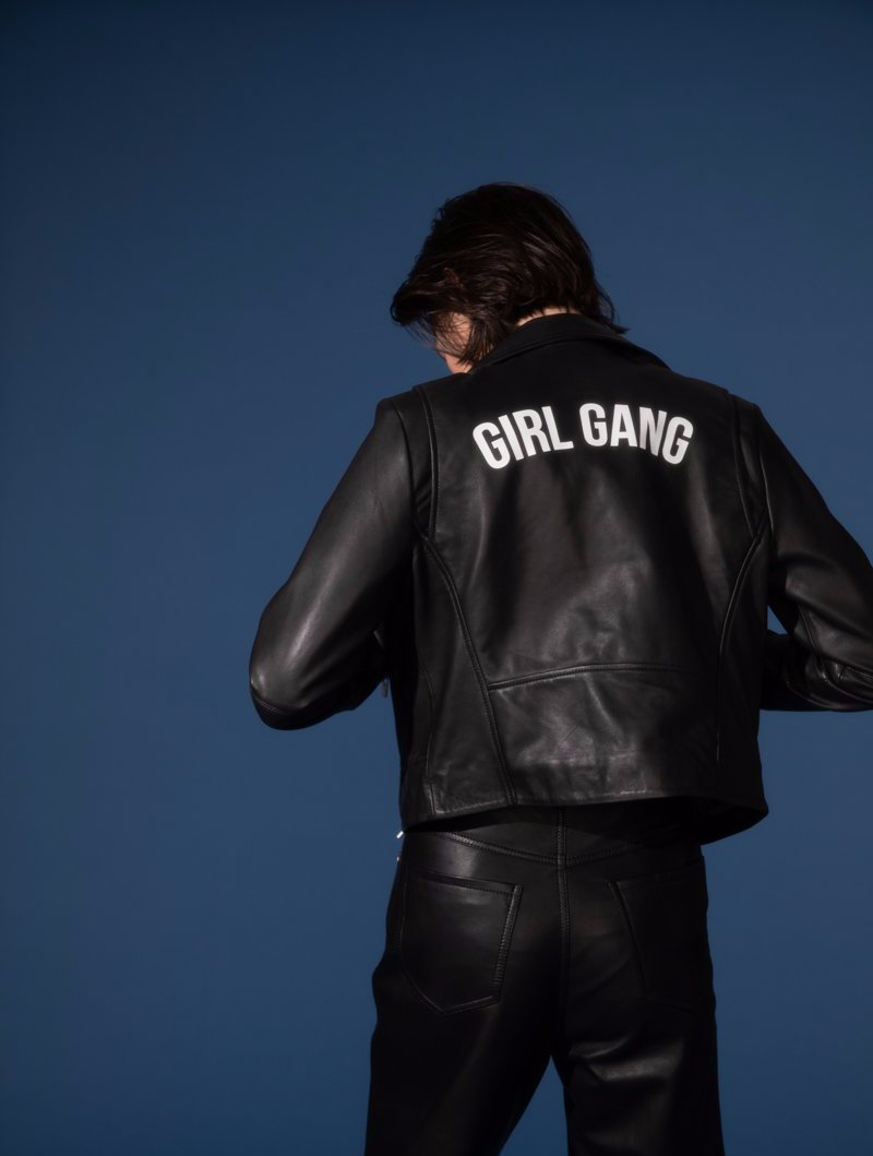 ba&sh x Veda Girl Gang Leather Moto Jacket