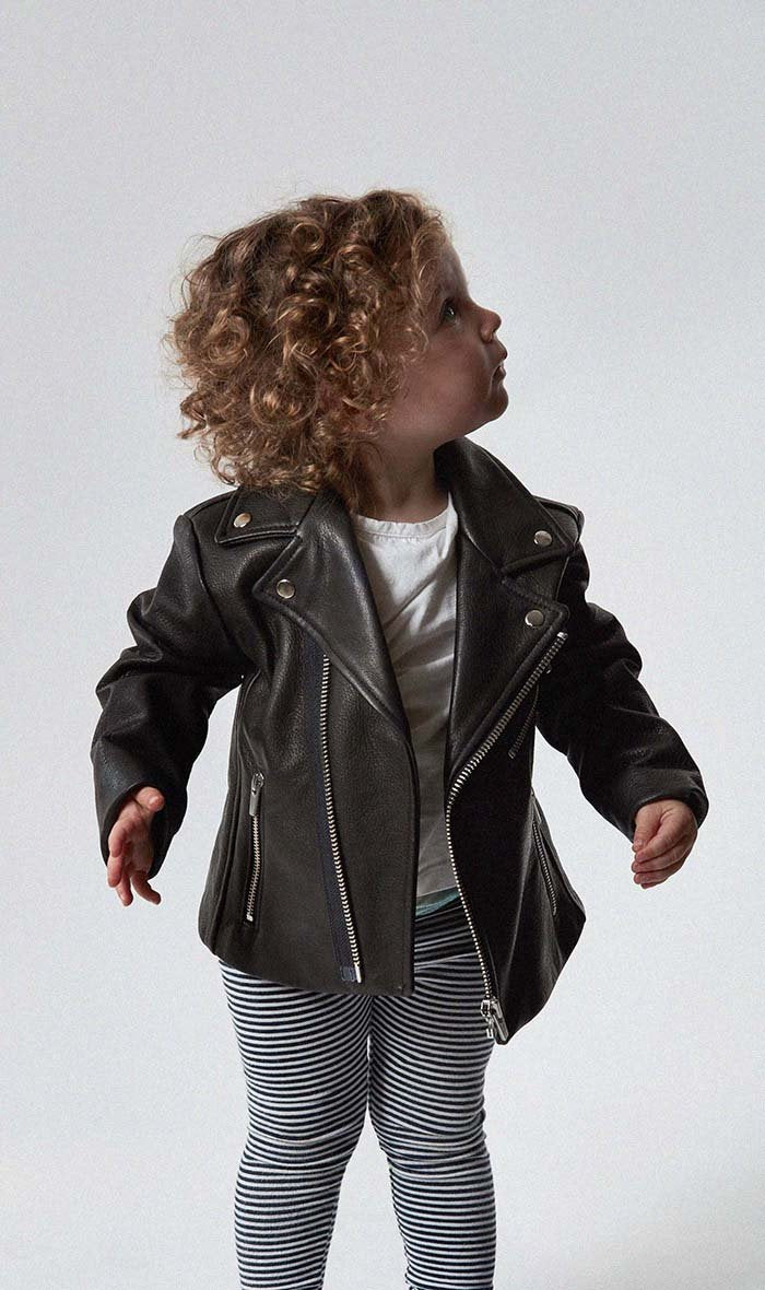 Boone Kid's Leather Jacket