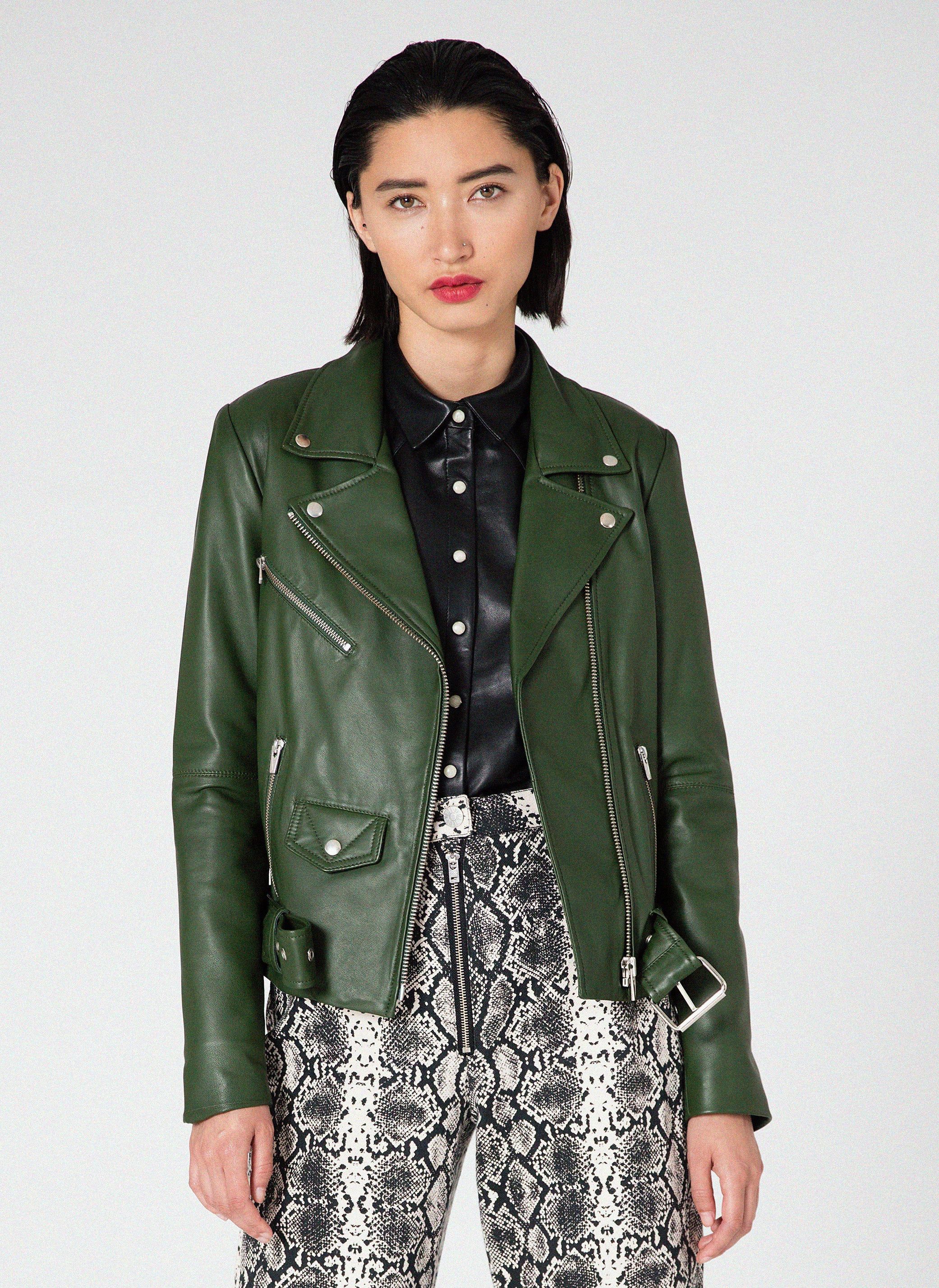 Jayne Smooth Jacket Forest Green
