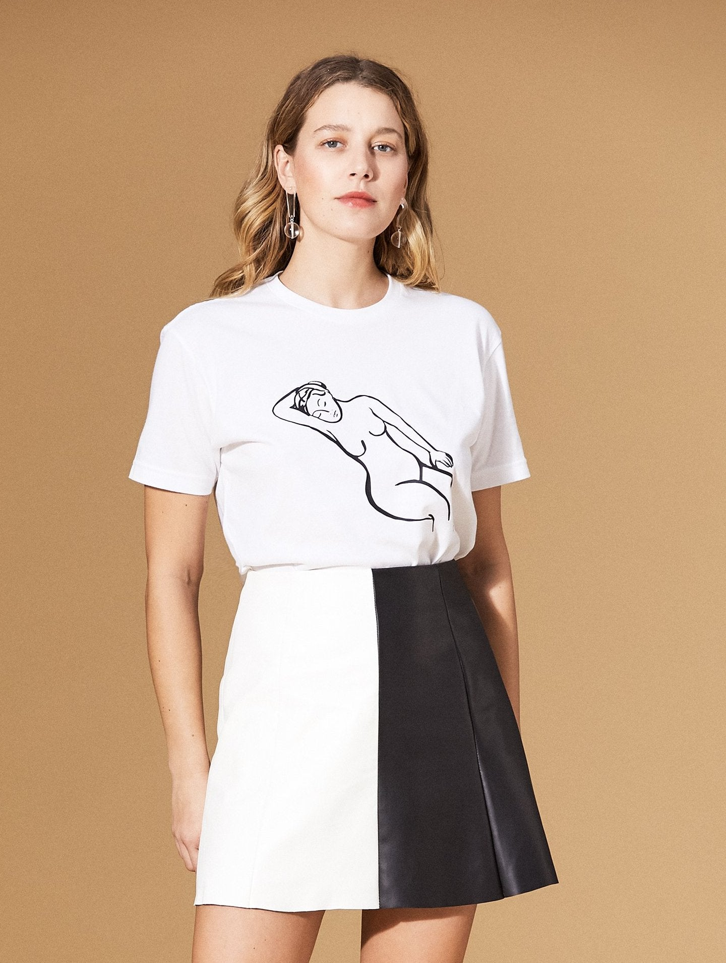 Frances Costelloe Reclining Nude Tee White