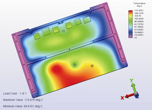 FEA Thermal Analysis of OC-CC-VPX-3U-4HP-PS-225-N engineered to match NASA JSC PCB design