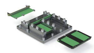 Baseplate and RTM Card Guides with Conduction-Cooled Kit / Assembled