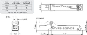 VFE ISO View and Pawl Table