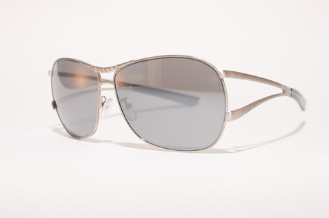 Catchy/ Brushed Silver/ Smoke Mirrored Lens