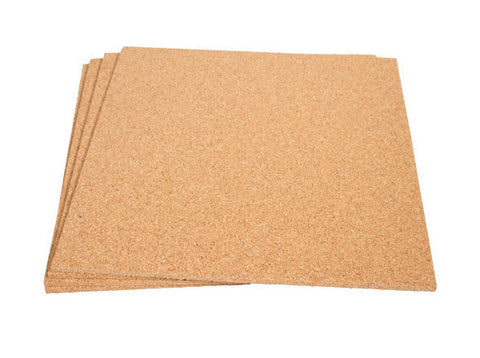 "12"" x 12"" Blank Cork Square, 1/4"" Thick"