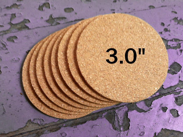 3 Quot Round Blank Cork Coasters 1 8 Quot Thick Made In Usa