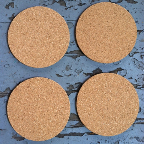 2 5 Quot Round Blank Cork Coasters Made In The Usa Blankcork
