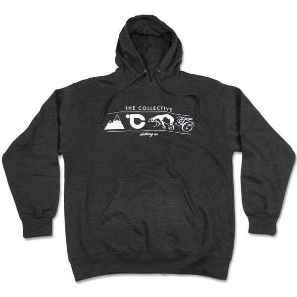The Winter Logo Pullover in Charcoal Heather