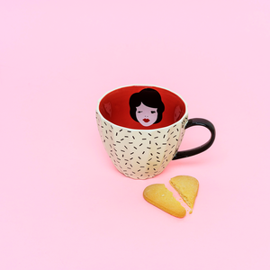 Tatty Devine og KBJ kopp Vintage Lady, 350ml.