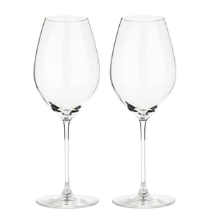 To stykk Riedel Veritas Champagne glass.