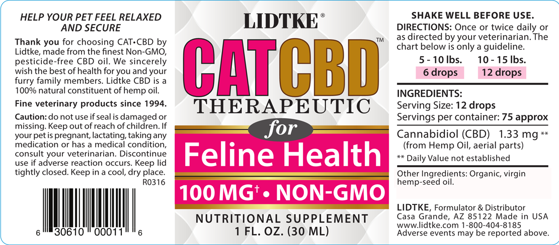 CAT CBD product label