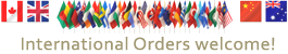 International Orders Welcome!