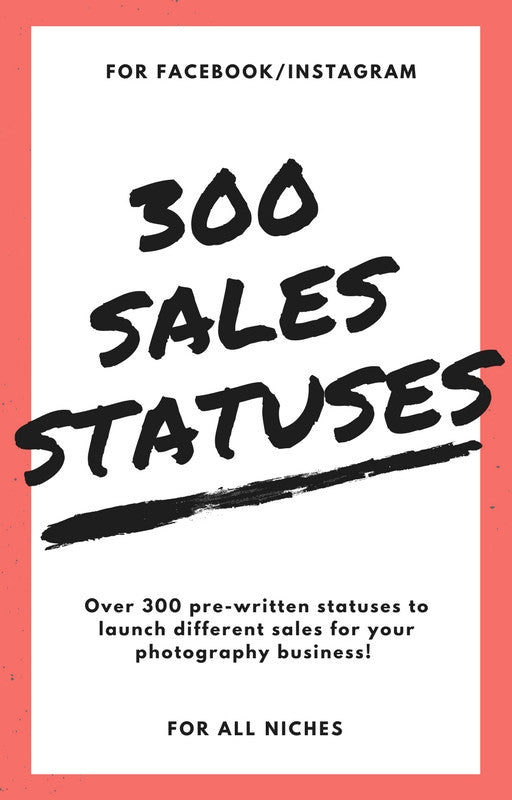 300 Sales Statuses for Facebook and Instagram