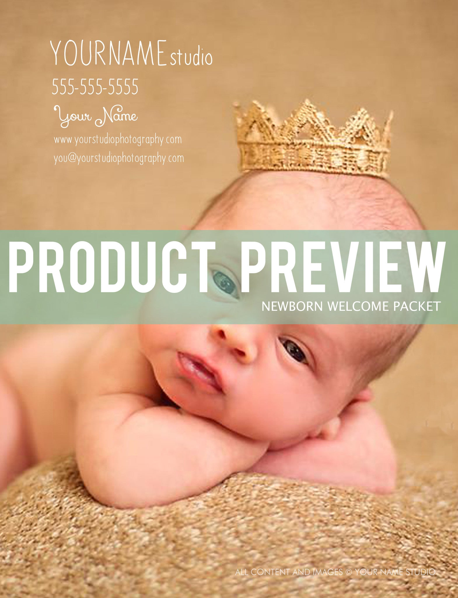 Newborn Magazine Welcome Packet Template {1st Edition} - BP4U Guides