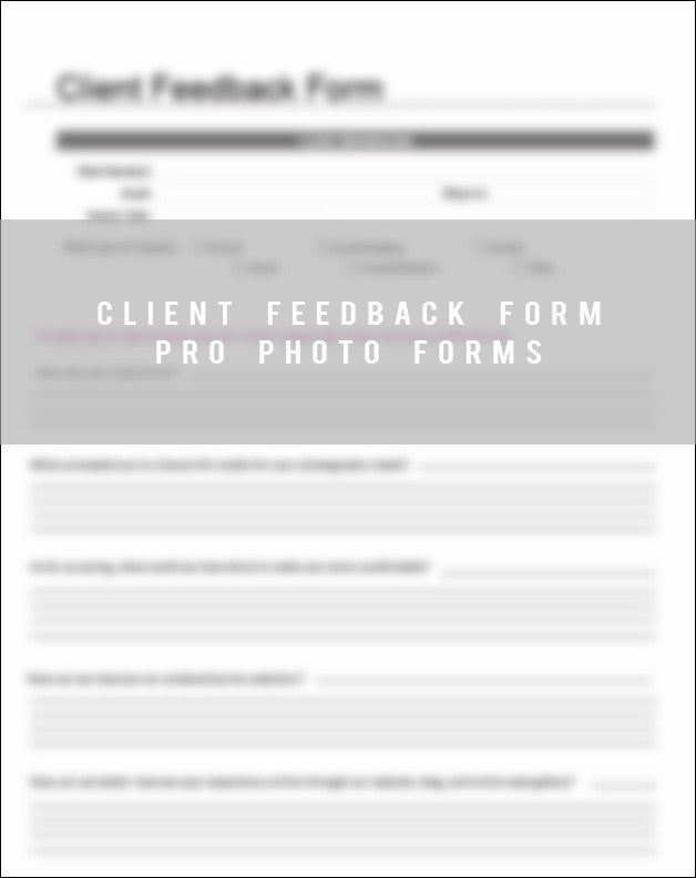 Client Feedback Form - Bp4U Guides