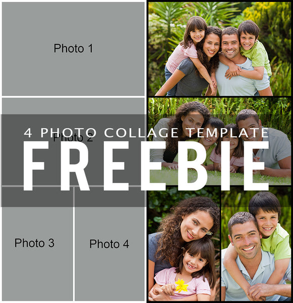 Free 4 photo collage template bp4u guides for 4 picture collage template