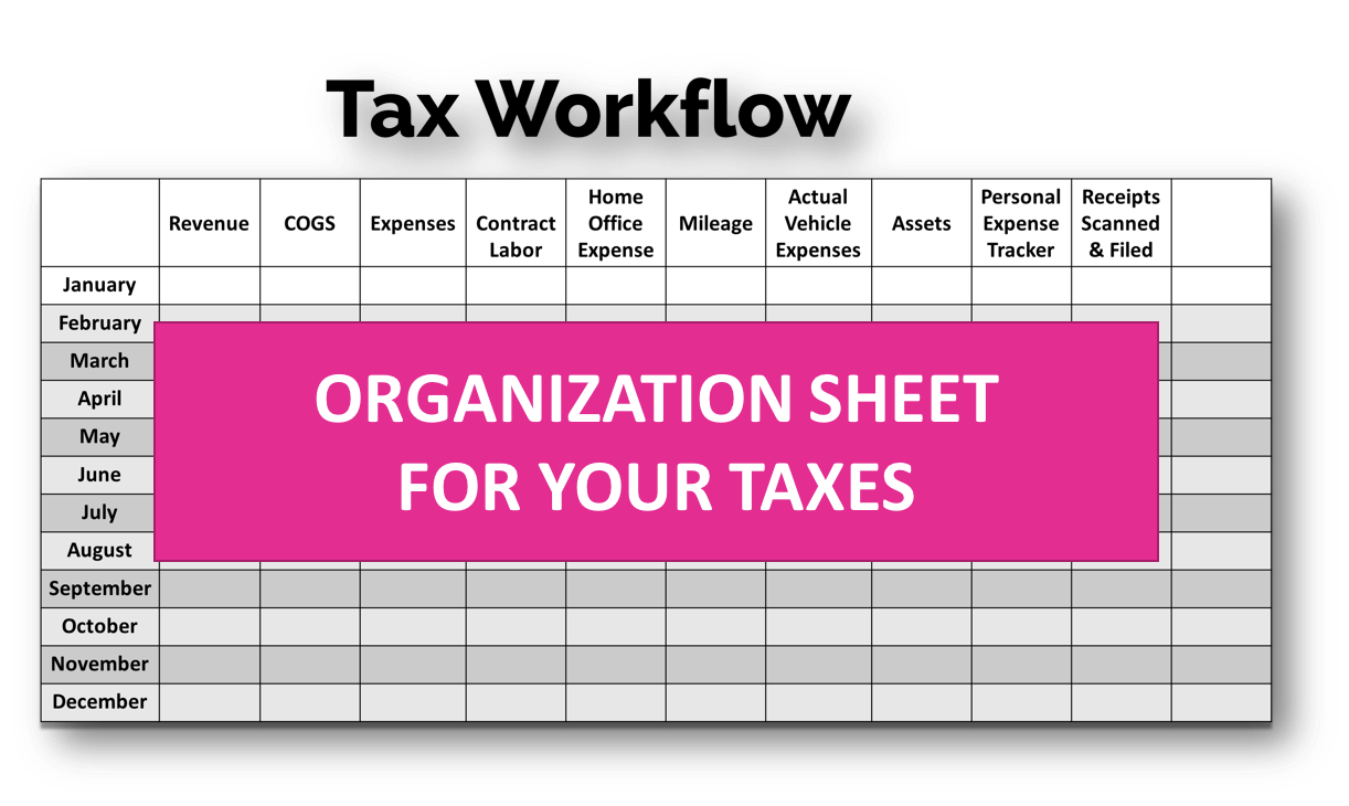 *BRAND NEW* 2019 Tax Estimator, Multi-Year Photography Tax Spreadsheets,  Tax Write Offs, Audit Prep Guide