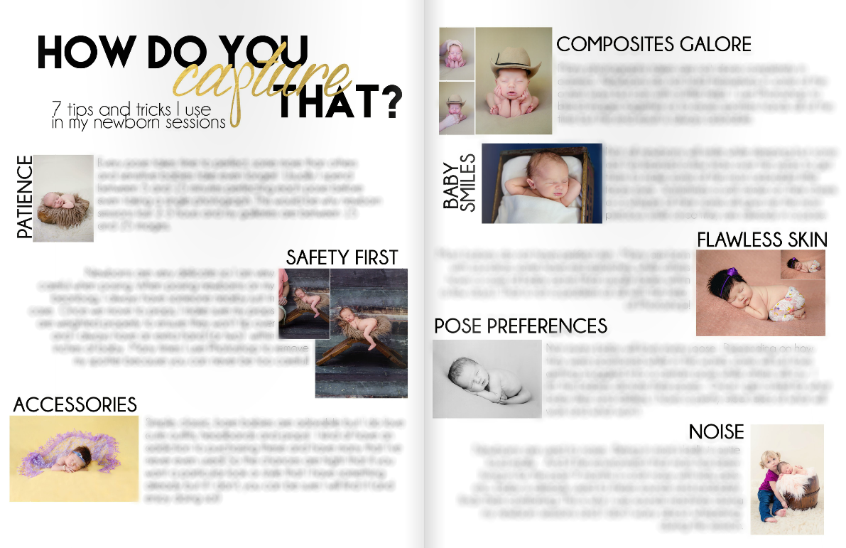 Newborn Magazine Welcome Packet Template Design by Devoted Imagery ...
