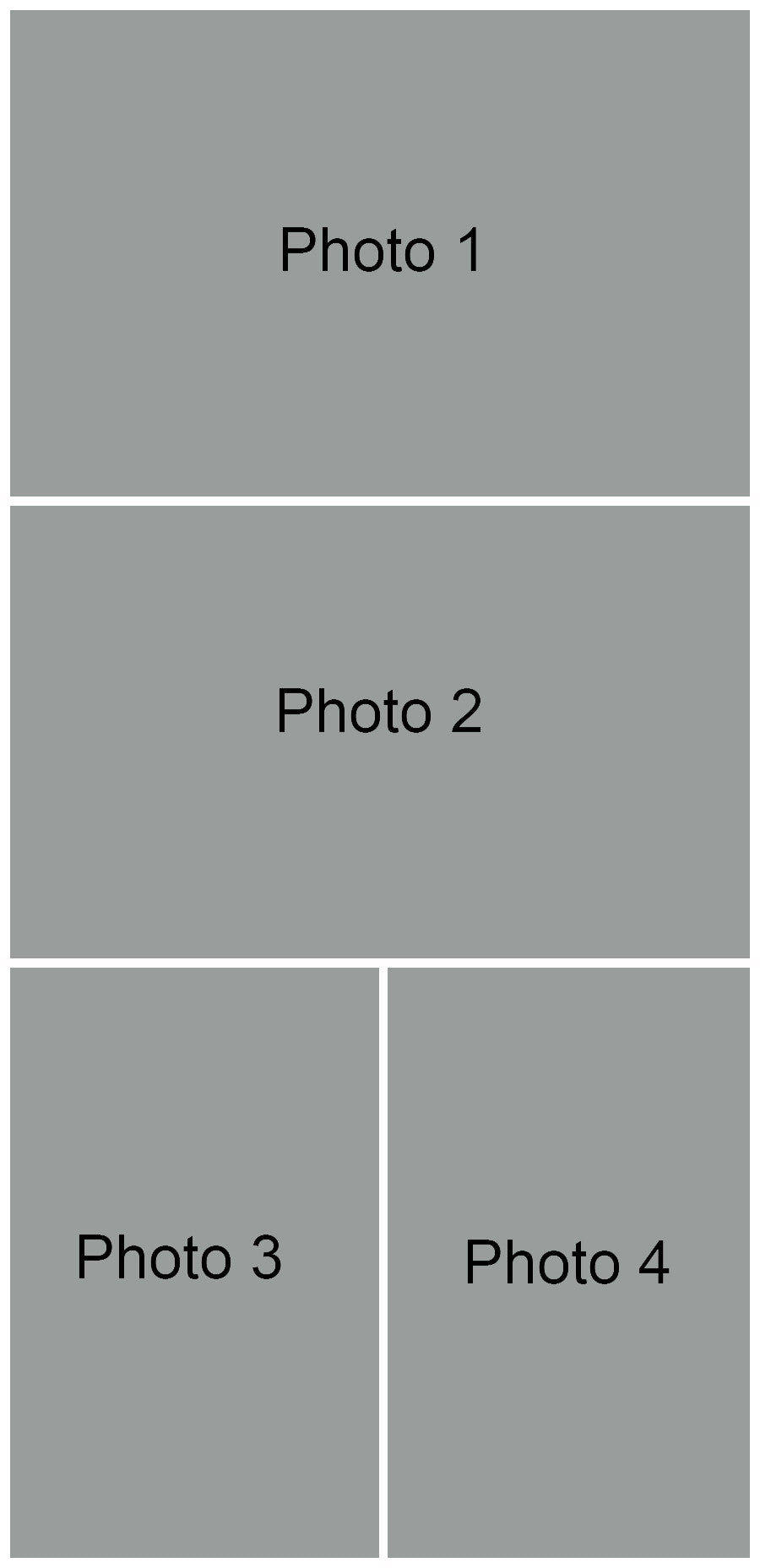 FREE 4 Photo Collage Template | BP4U Guides